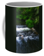 Fractalius - River Wye Waterfall - In Peak District - England Coffee Mug