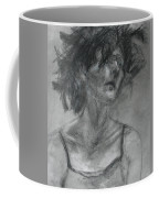 Gathering Strength - Original Charcoal Drawing - Contemporary Impressionist Art Coffee Mug