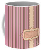 Frame With Ribbon Pinstripe Vector Coffee Mug