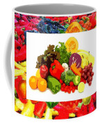 Framed Veggies Coffee Mug