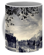 Framed View Of Salzburg From Kapuzinerberg Coffee Mug