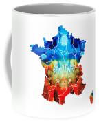 France - European Map By Sharon Cummings Coffee Mug