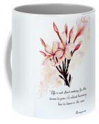 Frangipangi Pulmeria  Poem Coffee Mug