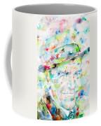 Frank Sinatra - Watercolor Portrait.1 Coffee Mug