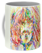 Frank Zappa Watercolor Portrait.1 Coffee Mug