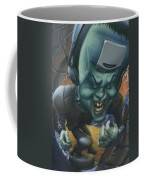 Frankinstein Playing The Air Guitar - Parody - Illustration - Monster Monsters - Humorous Coffee Mug