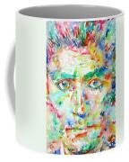 Franz Kafka Watercolor Portrait Coffee Mug