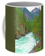 Fraser River Beyond Overlander Falls Along Yellowhead Highway-bc Coffee Mug