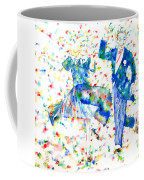 Fred Astaire And Ginger Rogers Watercolor Portrait Coffee Mug