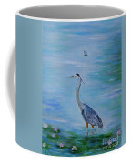 Free Spirit Blue Heron Coffee Mug