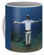 Freediver Underwater Coffee Mug by Hagai Nativ