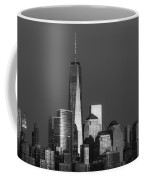 Freedom Tower Glow Bw Coffee Mug