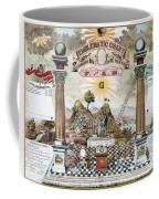 Freemason Emblematic Chart Coffee Mug