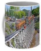 Freight Train Bridge Crossing Coffee Mug