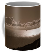 Freighter And The Catalina Channel Coffee Mug
