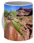 Sulphur Creek Flows Through Capitol Reef National Park Coffee Mug