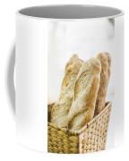 French Baguette In Basket Coffee Mug