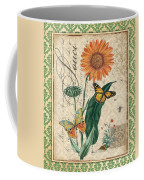 French Botanical Damask-a Coffee Mug