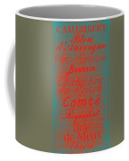 French Cheeses - 5 Coffee Mug by Paulette B Wright