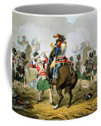 French Cuirassiers At The Battle Coffee Mug by John Augustus Atkinson