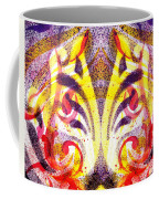 French Curve Abstract Movement Vi Mystic Flower Coffee Mug