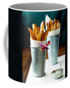 French Fries Fly-by Coffee Mug by Snake Jagger