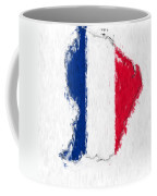 French Guiana Painted Flag Map Coffee Mug