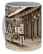 French Quarter Carriage Ride Sepia Coffee Mug