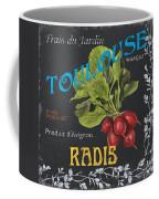 French Veggie Labels 3 Coffee Mug by Debbie DeWitt