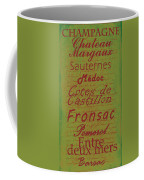 French Wines - 4 Champagne And Bordeaux Region Coffee Mug
