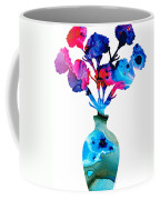 Fresh Cut - Vibrant Flowers Floral Painting Coffee Mug