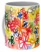 Fresh Flowers Coffee Mug by Linda Woods