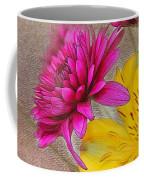 Fresh Flowers Painted Coffee Mug