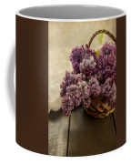 Fresh Lilacs In Brown Basket Coffee Mug