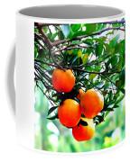 Fresh Orange On Plant Coffee Mug