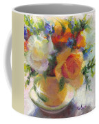 Fresh - Roses In Teacup Coffee Mug by Talya Johnson