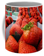 Fresh Strawberries Coffee Mug by Peggy Hughes