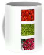 Fresh Vegetable Triptych Coffee Mug