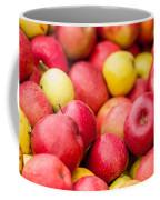 Freshly Harvested Colorful Crimson Crisp Apples On Display At Th Coffee Mug