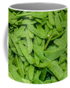 Freshly Harvested Peas On Display At The Farmers Market Coffee Mug