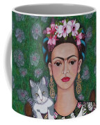 Frida Cat Lover  Coffee Mug