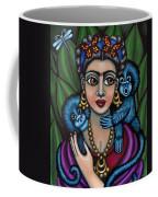 Frida's Monkeys Coffee Mug by Victoria De Almeida