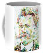 Friedrich Nietzsche Watercolor Portrait Coffee Mug