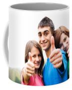 Friends Showing Thumb Up Sign Coffee Mug