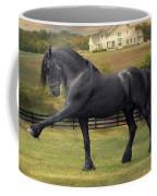 Friesian Stallion Tije Spanish Walk Coffee Mug