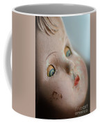 Frightened Vintage Doll Face Coffee Mug