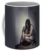 Frightened Woman Coffee Mug