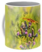 Fritillary On Thistle Coffee Mug