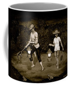 Frog Hunters Black And White Photograph Version Coffee Mug