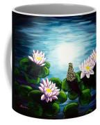 Frog In A Moonlit Pond Coffee Mug